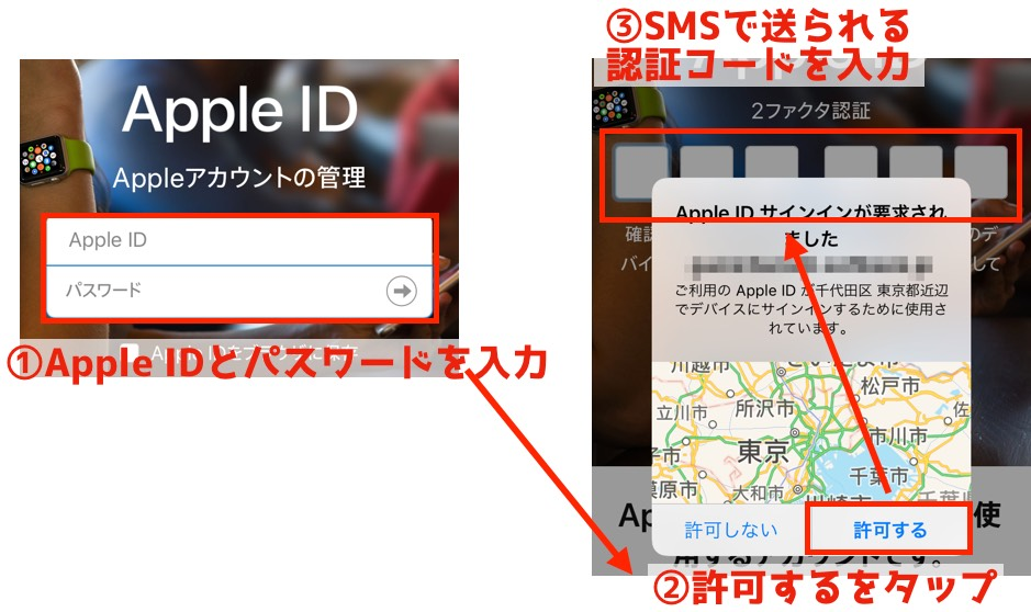 AppleID設定