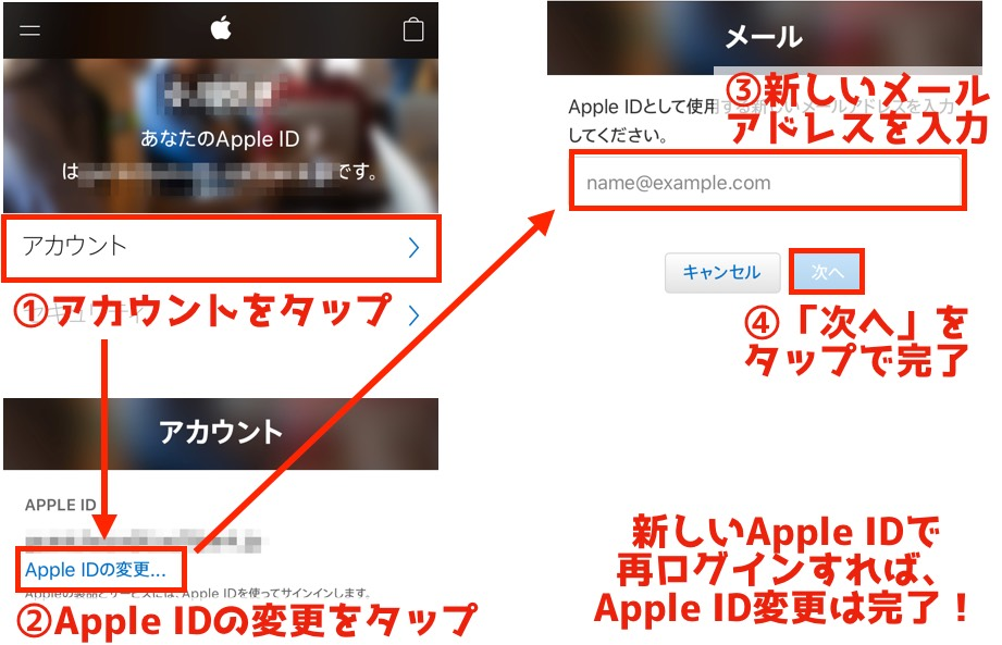 AppleID変更